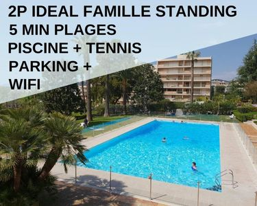 Photo for 2P Calme,Idéal Famille,Piscine,Tennis,Wifi,Parking - Antibes