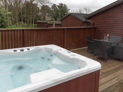 Photo for Birch Lodge 19 with Hot Tub Newton Stewart