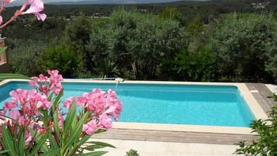 Photo for villa with panoramic views of typical Provencal countryside