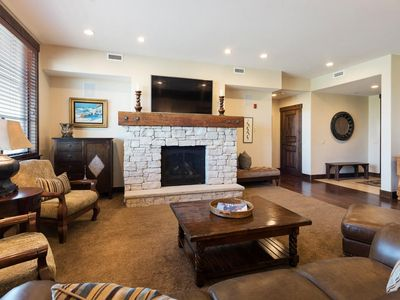 Photo for Classic ski condo with king suites and golf course views -- on-site concierge and winter shuttle