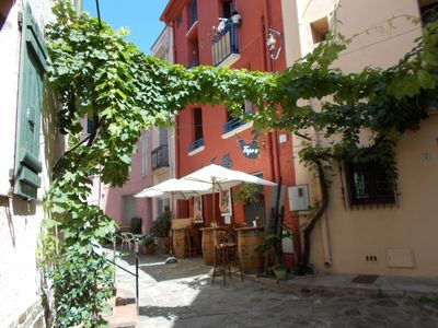 Photo for Collioure, the heart of the historical center, in a nice pedestrian street for 4