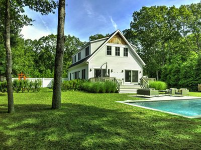 Photo for East Hampton Family Home with Gunite Pool and Lots of Yard for Kids to Play!