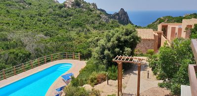 Photo for Private pool 10 meters, sea view, air conditioning, carport