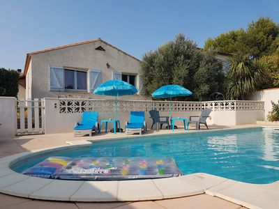 Photo for Villa with private pool 5 min away from the sea for 8 people