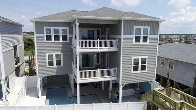 Photo for Endless Summer, Holden Beach oceanfront with pool, tiki bar, pool table, and space for 28 guests