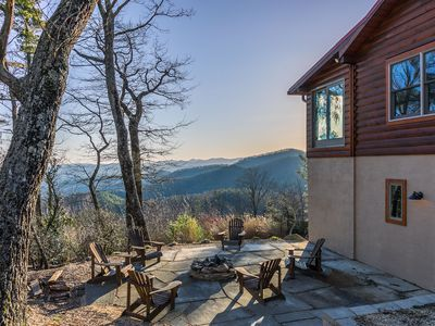 Photo for Alpine Vista - Blowing Rock Cabin with hot tub, Theater, Sauna, Views
