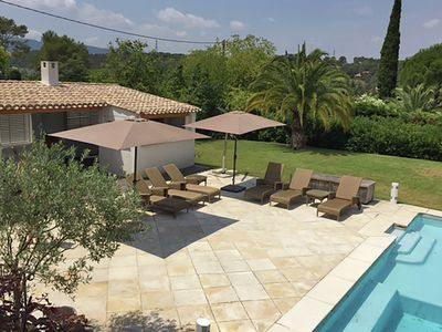 Photo for Stylish villa near Mougins with large, private pool and lovely outdoor kitchen