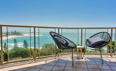 Photo for Ocean Front Moffat Beach Private Rooftop Terrace Walk to cafe's, restaurants