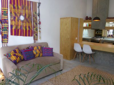 Photo for New Mexican Modern Casita, Garage Available, 5 -10 Minutes Walk To All.