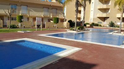 Photo for Penthouse with huge solarium on popular residencial Albatros with pool for rent