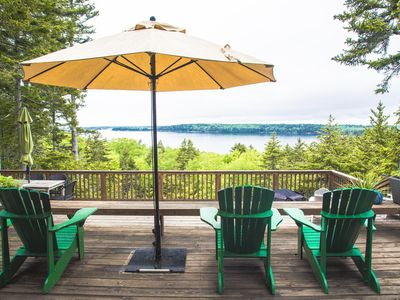 Photo for Treehouse with stunning ocean Views from expansive deck + Frontage on Forest l