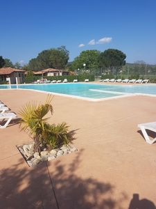Photo for House 2/5 p in Vallon Pont d'Arc, private domain with pool, air conditioning.