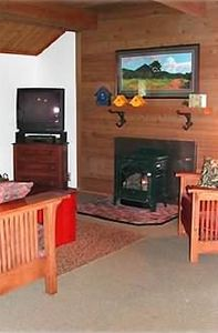 Living Room with Gas Fireplace and now a flatscreen TV