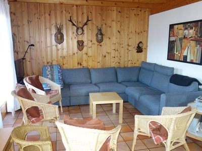 Photo for Comfortable and cosy 3*chalet for 10 persons located at 2km from the ski slopes in a calm and sunny