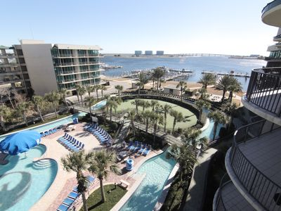 Photo for Phoenix on the Bay 2BR/2BA Condo 5th Flr. Gorgeous View, Lazy River, Water Slide