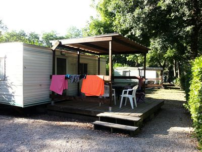 Photo for Camping Cottages on the Dordogne *** - Mobile home Sans WC 3 Rooms 4 People