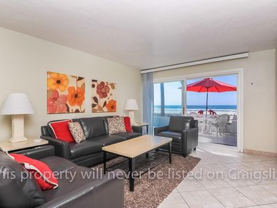 Photo for BEACHES ARE FULLY OPEN! OCEANFRONT MISSION BEACH 2 BR CONDO W/INCREDIBLE VIEWS!