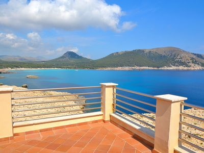 Photo for Tramuntana villa with swimming pool just in front of the sea 301