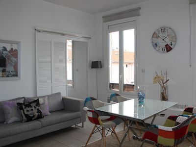 Photo for Perfectly located , modern flat 50 meters to the beach