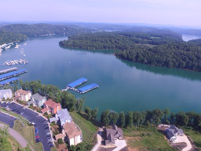 Photo for New Lakefront Home on Norris Lake at Stardust Marina, 5 BR/6BA, Covered Dock