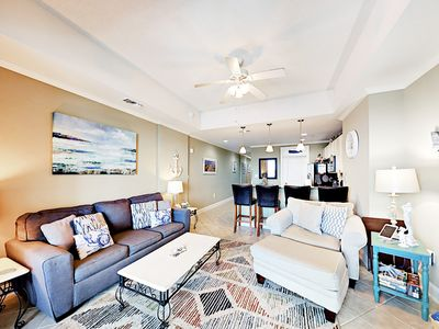 Photo for 6th-Floor 1BR in The Wharf w/ Marina Views, Pool, Lazy River & Amphitheater