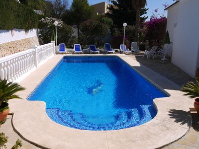 Photo for Calpe: Beautiful villa with private pool and beautiful views of the bay of Calpe