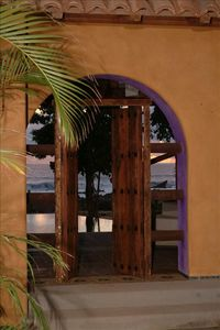 Entrance to the Casa.  Walk out to the pool and from there to the beach.