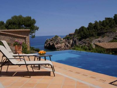 Photo for VILLA DEL MAR- Villa Cala Deia. Private heated pool and exterior. Air conditioning. BBQ - Free Wifi