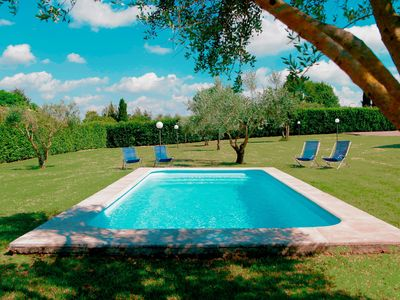 Photo for ★★★★★ Bright Villa near Rome/Airy roofed Patio overlooking private Pool/Garden