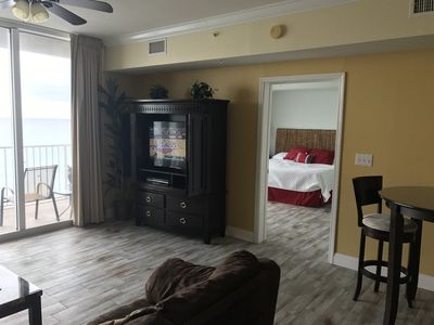 Photo for REDUCED for August -Condo -w- OCEAN FRONT BEDROOM, 4th Floor, Free Beach Service