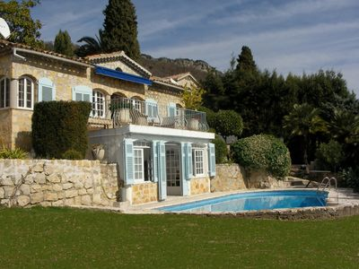 Photo for Luxury villa with private pool, terraces and stunning sea views