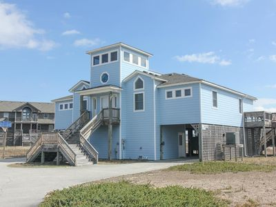 Photo for Swink - Semi-Oceanfront Southern Shores Rental Home 5BR, 3 BA, with Hot Tub - Southern Shores Realty