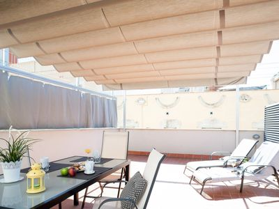 Photo for Poblenou Beach One-Bedroom Apartment and Terrace