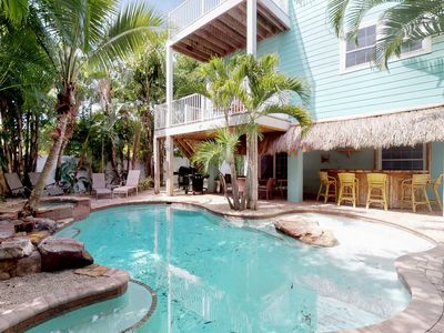 Photo for Spacious, dog-friendly home w/ private pool only a few blocks from the beach!