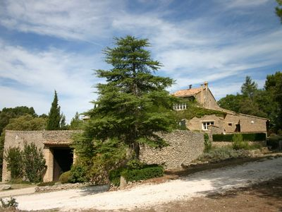 Photo for Detached cottage in a provencal area breathtaking view jaccuzi pool
