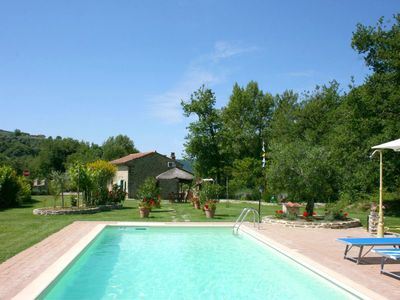 Photo for Beautiful private villa with WIFI, private pool, A/C, TV, pets allowed and parking, close to Cor...