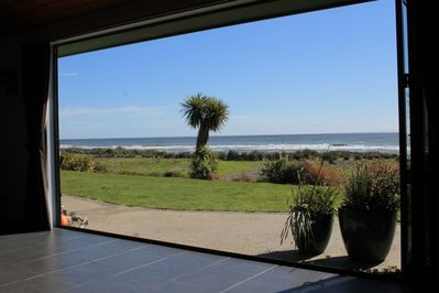 View to the sea from the dining area.