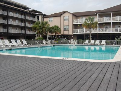 Windjammer Pool, Never crowded, Our property grounds are beautiful.