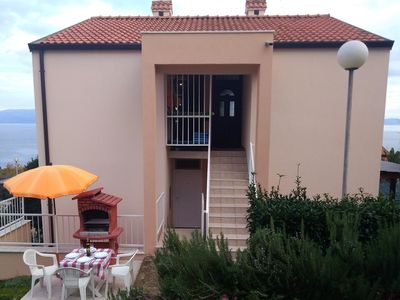 Photo for Two bedroom apartment with terrace and sea view Ravni, Labin (A-7614-a)