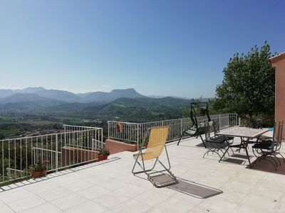 Photo for House with beautiful view large garden, Drôme River, Vercors, Provenc