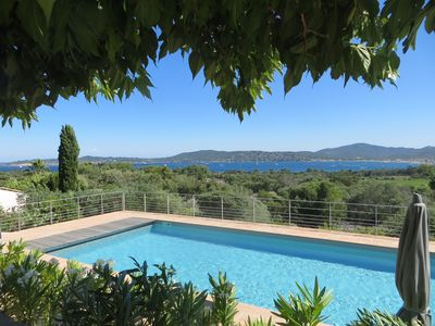 Photo for Villa in Grimaud with magnificent sea views over the Gulf of Saint Tropez!