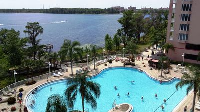 Photo for Lakeside Resort  1 mile from Disney - Spacious, Spectacular Views, Clean, 5-Star