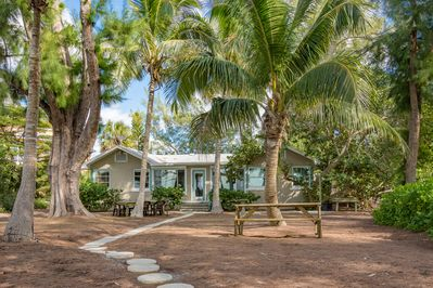 Backyard at Shady Palms: One step to the beach...Sure to be your favorite spot!