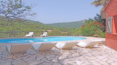 Photo for Villa T5 - 6 people - Private pool - WiFi - Plan of the Tower in the heart of the Massif des Maures