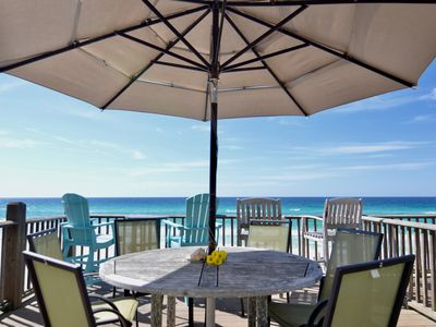 Photo for Renovated: Beachfront, Gulf Front Townhome; Heated Pool, Free Beach Setup