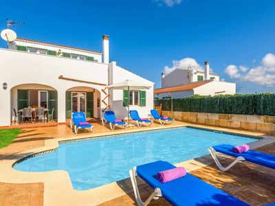 Photo for Villa Camelia - great location in Cala En Forcat with pool, air-con and Wi-Fi