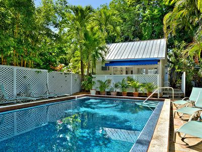 Photo for Colony Poolside: A charming bungalow near the historic cemetery