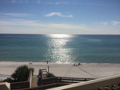 Photo for BEACHFRONT CONDO ON 30A! SLEEPS 6! CLOSE TO SEASIDE! OPEN 4/4-11!!