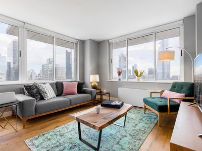 Photo for Gorgeous 2BR, 2BA, Pool + Doorman, near Times Sq by Blueground