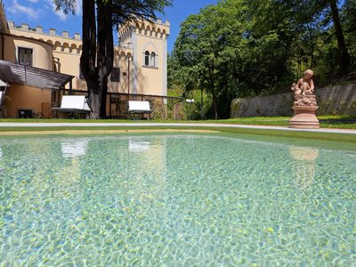 Photo for Apt Lily, in stunning Villa, swimming pool in Chianti, 15 minutes from Florence